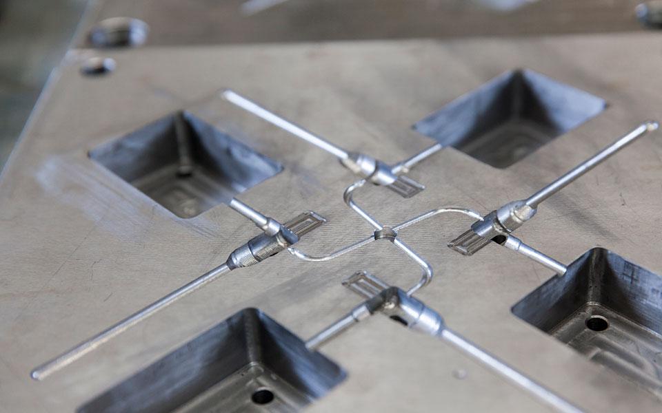 Formwerkzeug für den Spritzguss im Detail